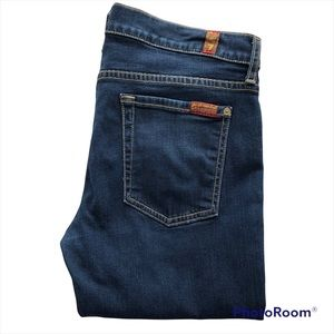 7 FOR ALL MANKIND Dark wash the skinny Size 30 Jeans